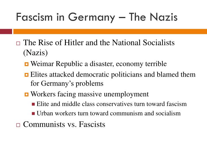 Fascism in Germany – The Nazis