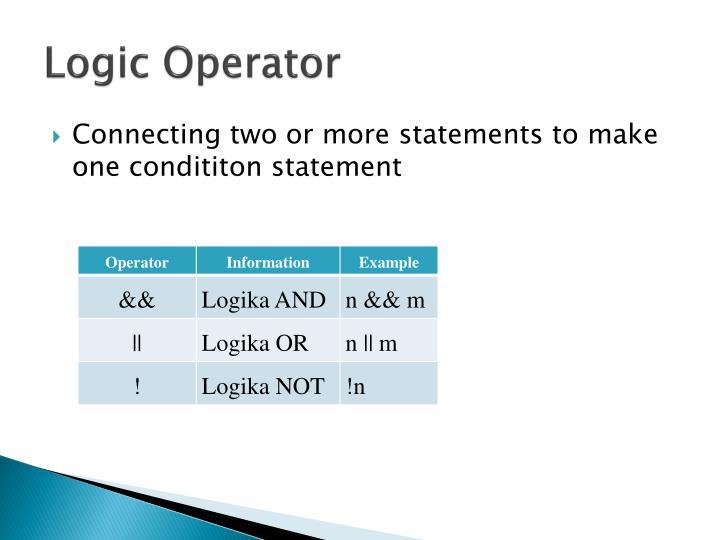 Logic Operator