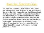 book case defamation case