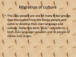 migration of culture
