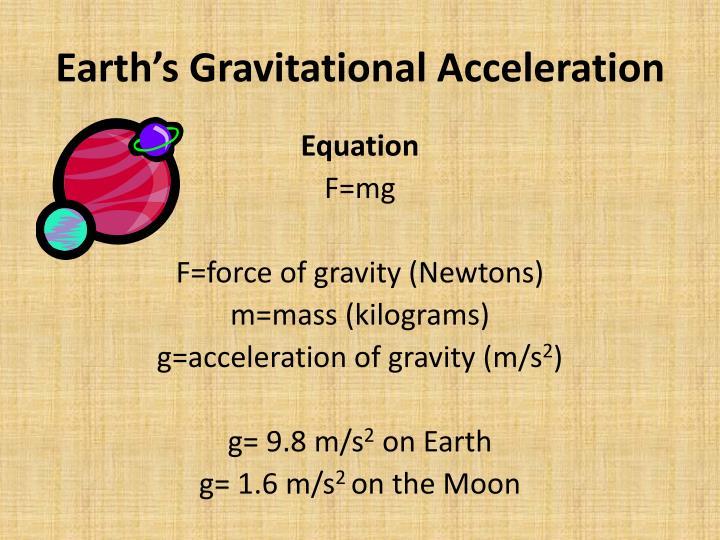 Earth's Gravitational Acceleration