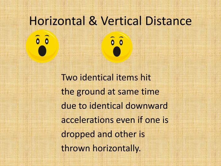 Horizontal & Vertical Distance