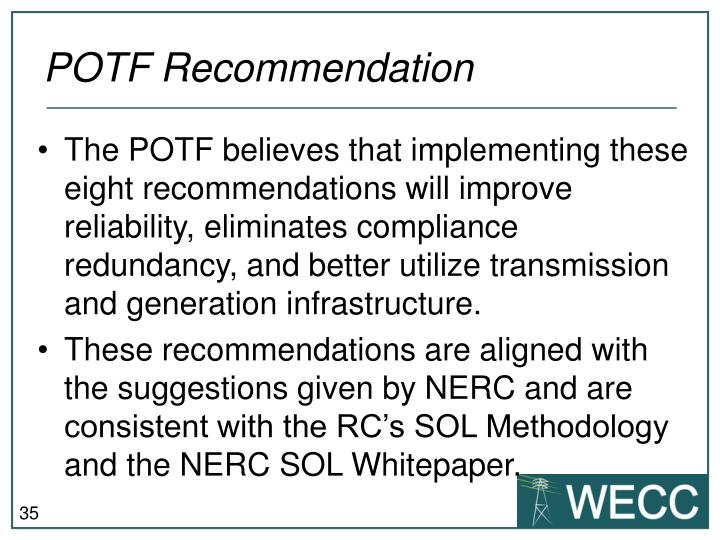 POTF Recommendation