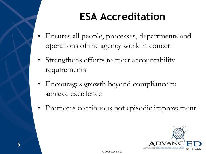 ESA Accreditation