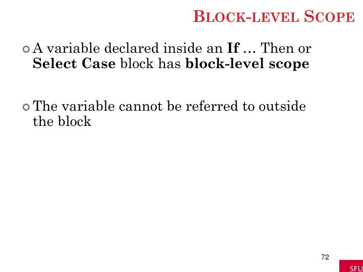 Block-level Scope