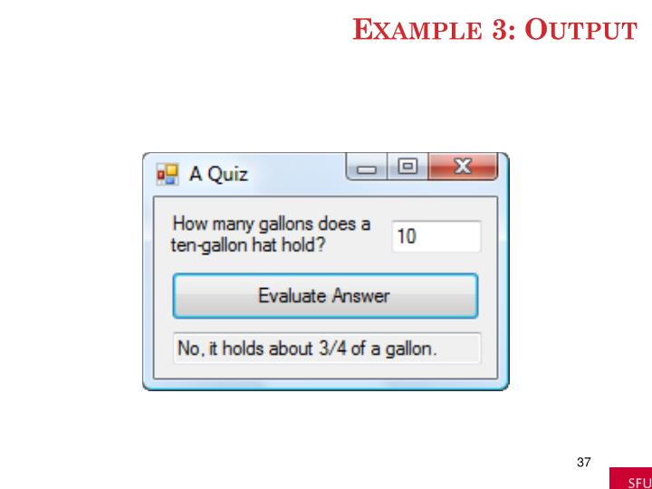 Example 3: Output