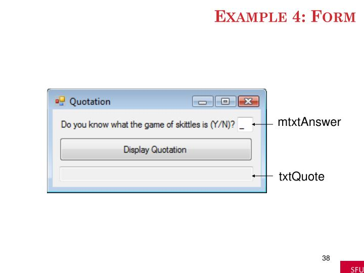 Example 4: Form