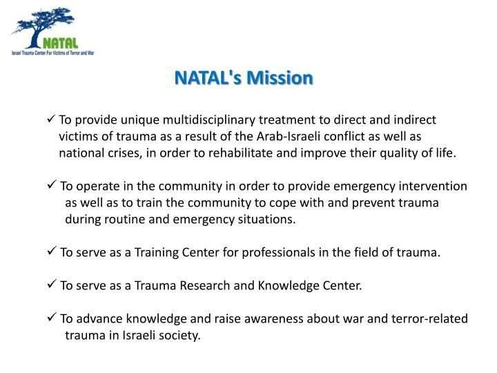 NATAL's Mission