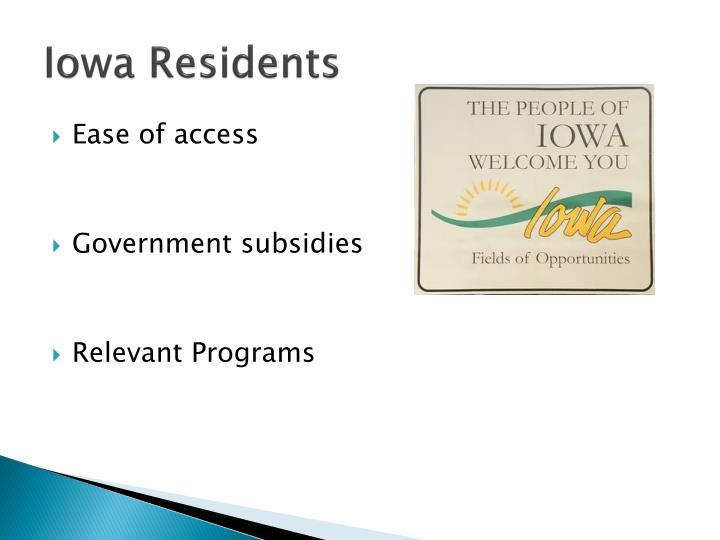 Iowa Residents