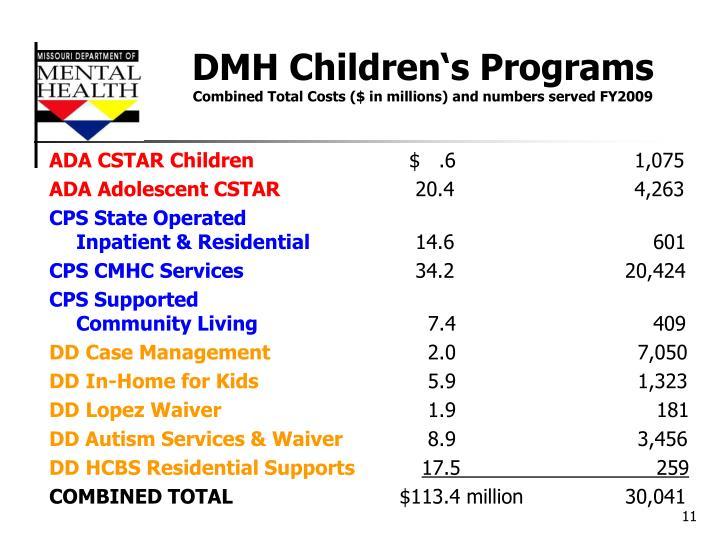DMH Children's Programs