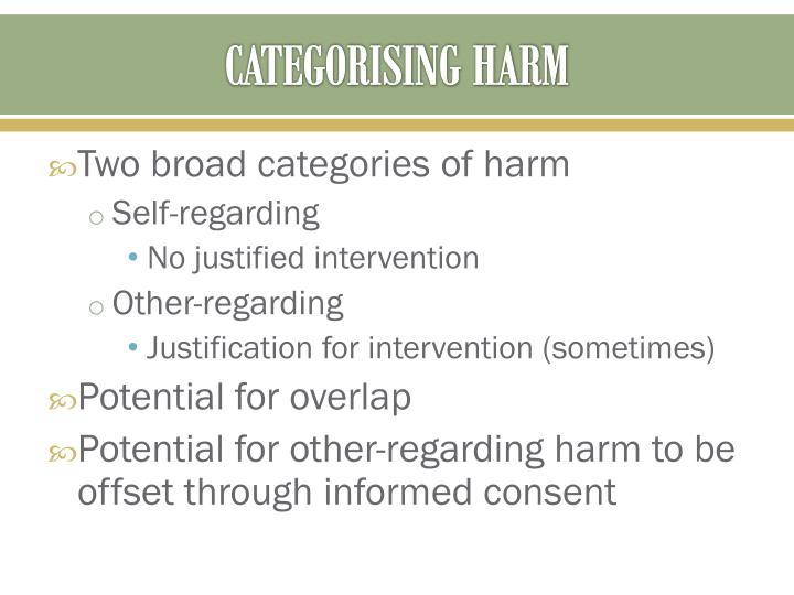 CATEGORISING HARM