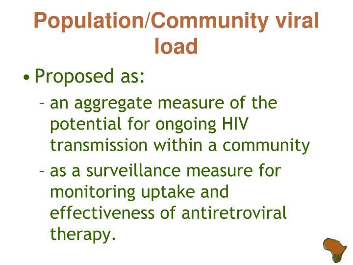 Population/Community viral load