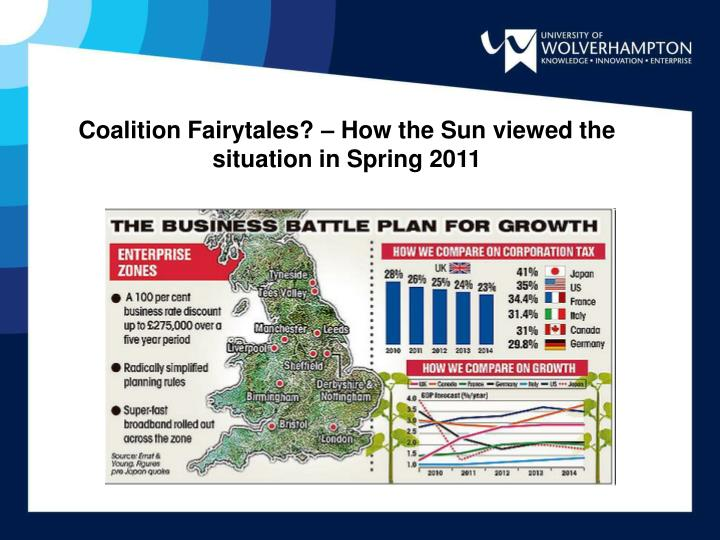 Coalition Fairytales? – How the Sun viewed the situation in Spring 2011