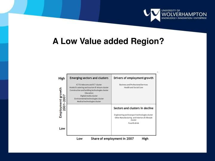 A Low Value added Region?