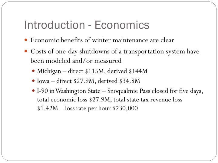 Introduction - Economics