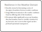 resilience in the weather domain