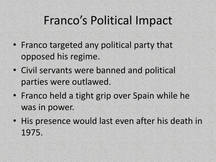 Franco's Political Impact