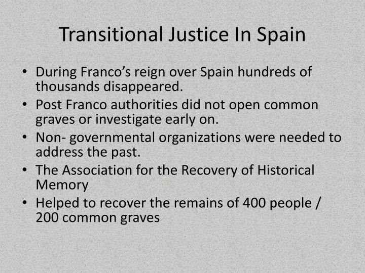 Transitional Justice In Spain