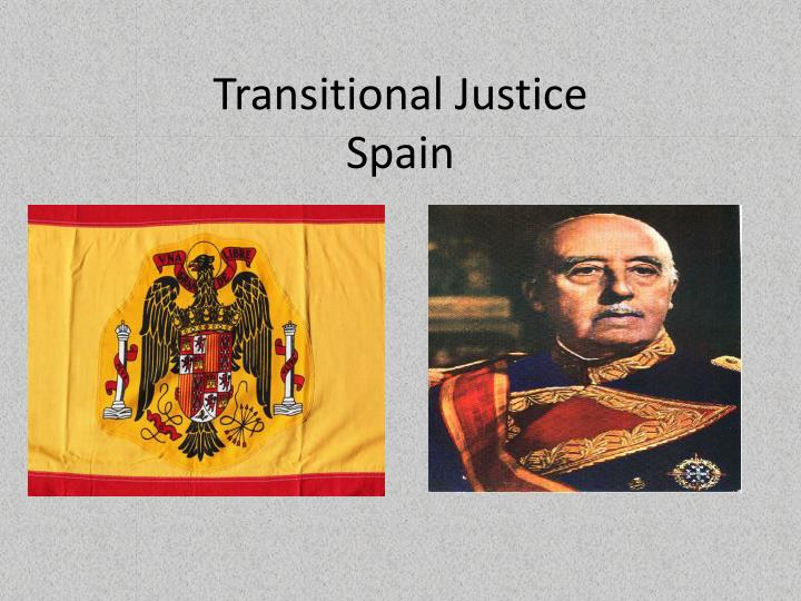 Transitional justice spain