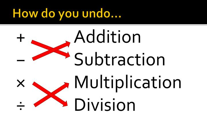 How do you undo…