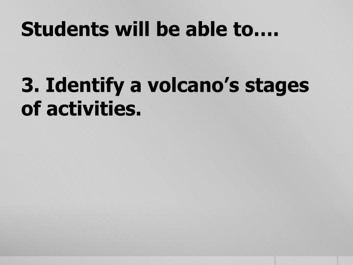 Students will be able to….