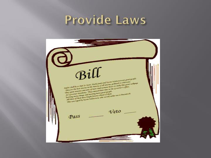 Provide Laws