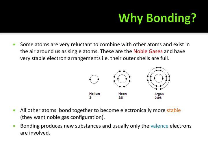 Why Bonding?