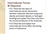 intermolecular forces ib objectives
