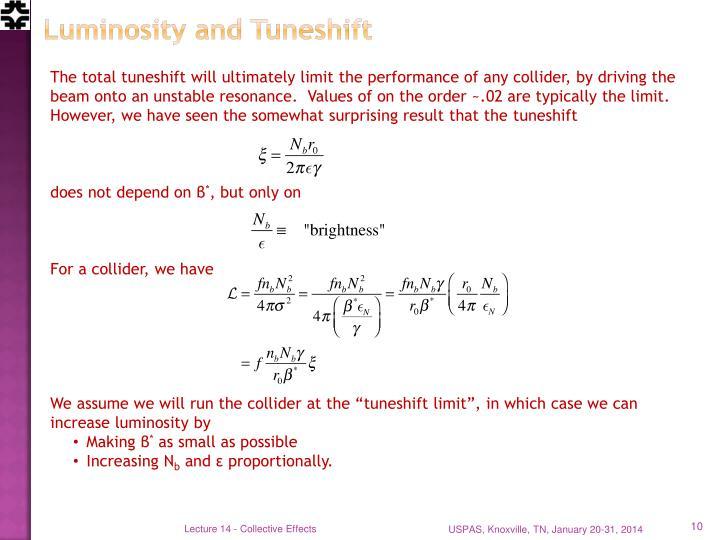 Luminosity and