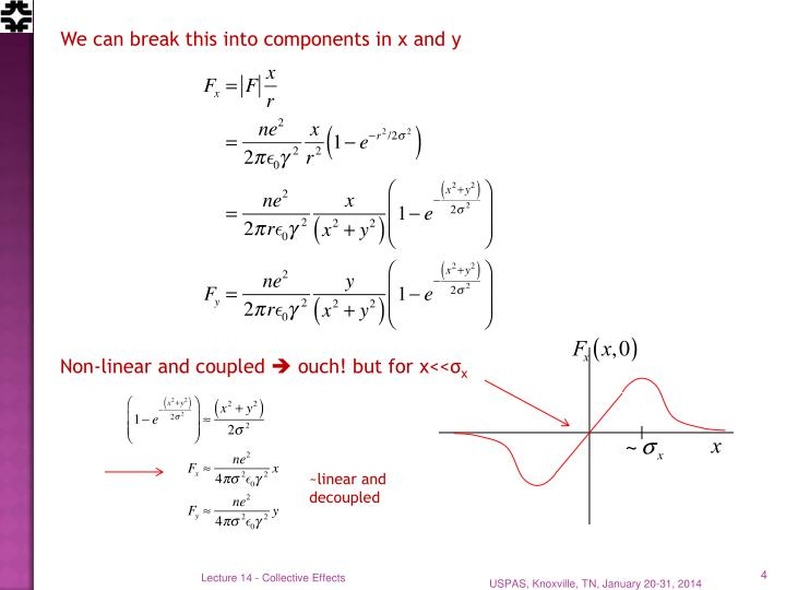 We can break this into components in x and y