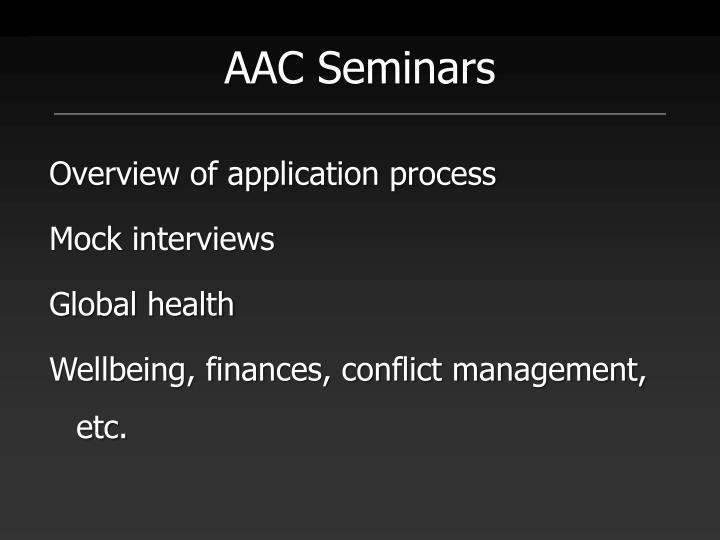 AAC Seminars
