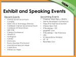 exhibit and speaking events