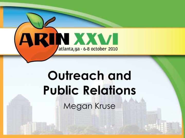 outreach and public relations
