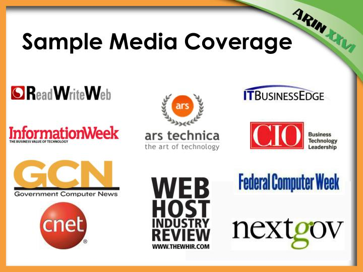 Sample Media Coverage