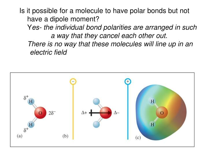 Is it possible for a molecule to have polar bonds but not have a dipole moment?
