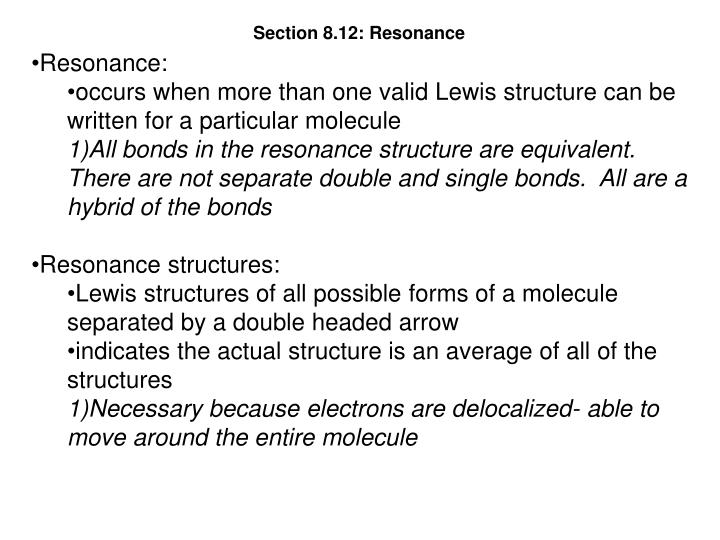 Section 8.12: Resonance