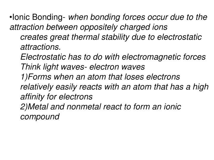 Ionic Bonding-
