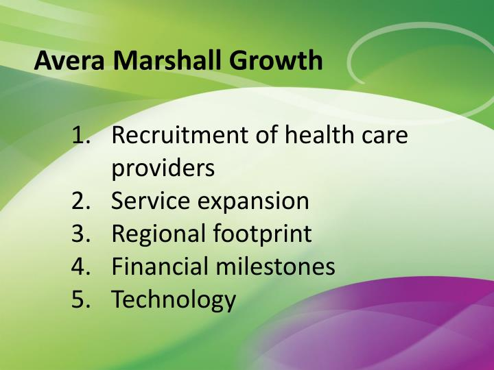 Avera Marshall Growth