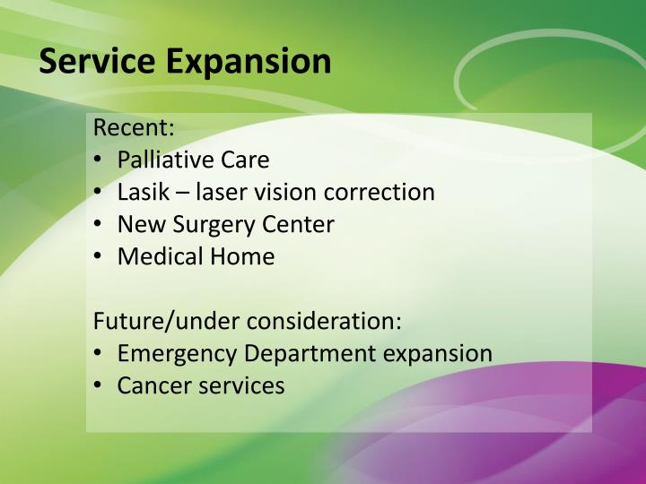 Service Expansion