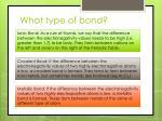 what type of bond