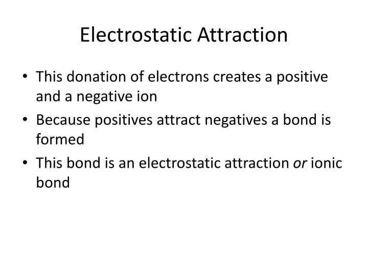 Electrostatic Attraction