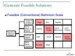 generate feasible solutions