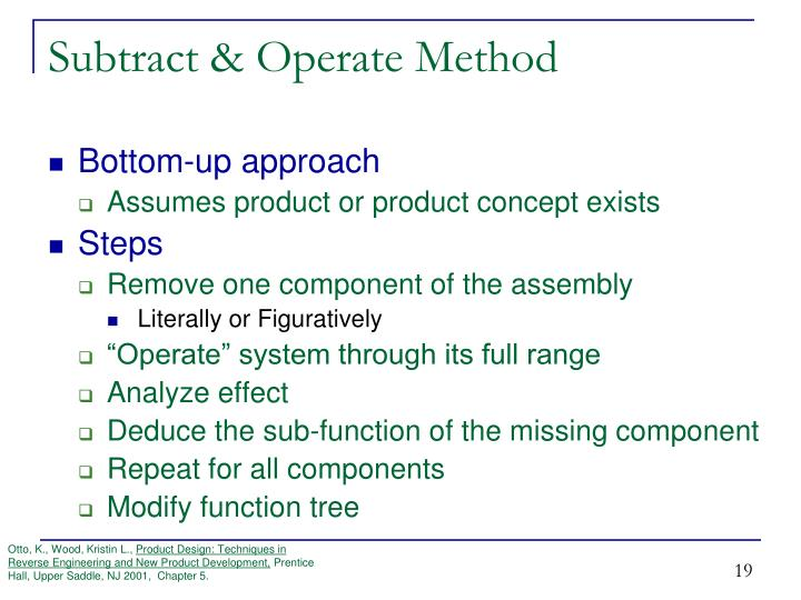 Subtract & Operate Method