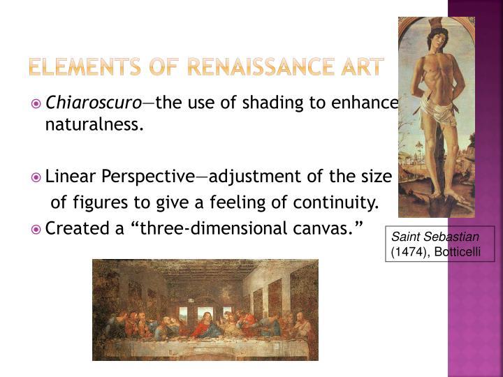 Elements of renaissance art
