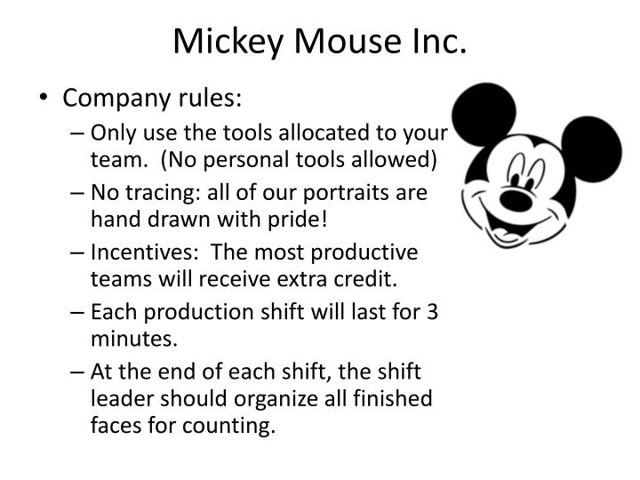 Mickey Mouse Inc.