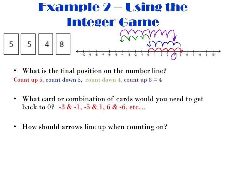 Example 2 – Using the Integer Game