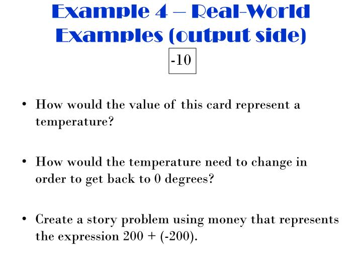 Example 4 – Real-World