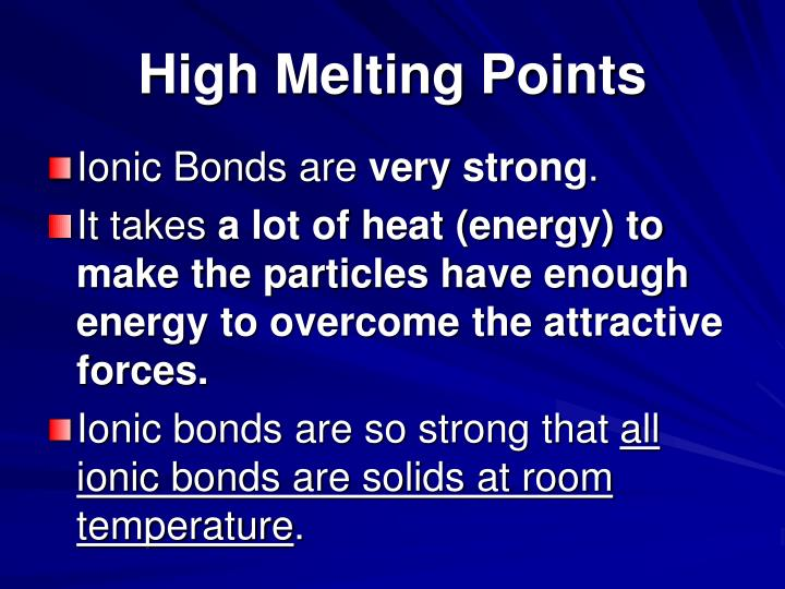 High Melting Points