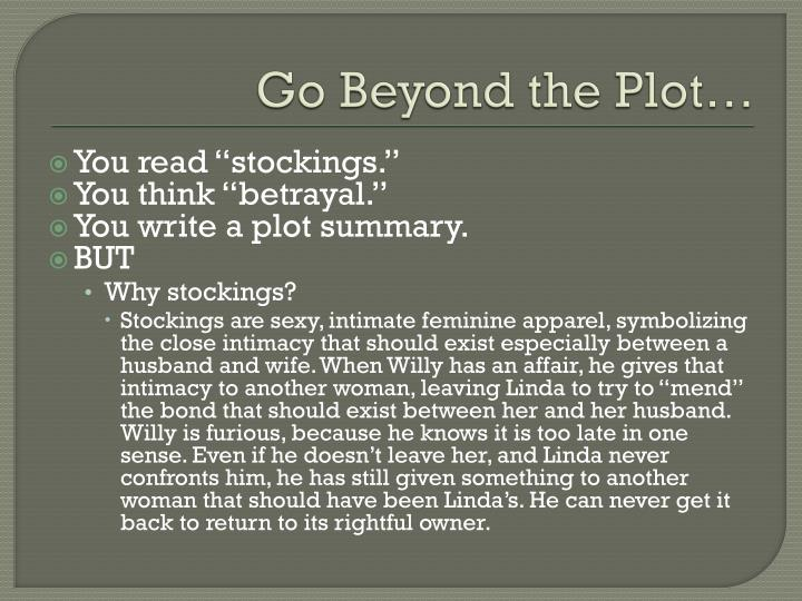 Go beyond the plot