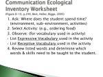communication ecological inventory worksheet figure 8 10 p 249 best heller bigge 2005